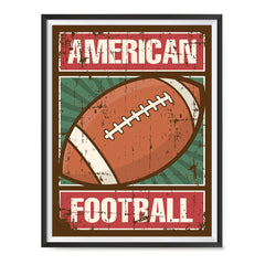 Ezposterprints - Ball Green | Retro Sports Series FOOTBALL Posters with frame photo sample