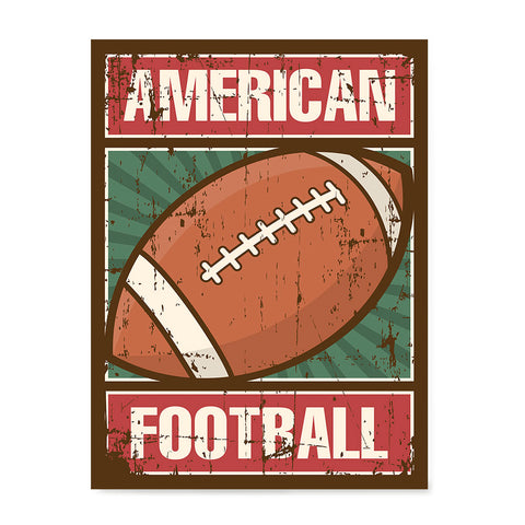 Ezposterprints - Ball Green | Retro Sports Series FOOTBALL Posters