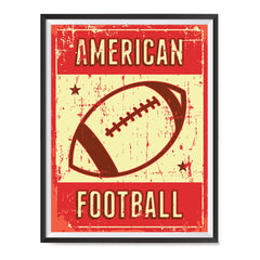 Ezposterprints - Ball Red | Retro Sports Series FOOTBALL Posters with frame photo sample