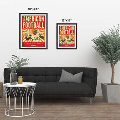 Ezposterprints - Player Red | Retro Sports Series FOOTBALL Posters ambiance display photo sample