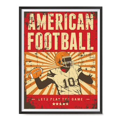 Ezposterprints - Player Red | Retro Sports Series FOOTBALL Posters with frame photo sample