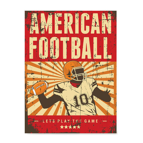 Ezposterprints - Player Red | Retro Sports Series FOOTBALL Posters