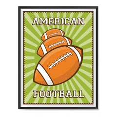Ezposterprints - Three Balls | Retro Sports Series FOOTBALL Posters with frame photo sample