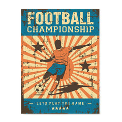 Ezposterprints - Player Blue Orange | Retro Sports Series SOCCER Posters