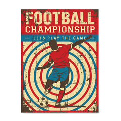 Ezposterprints - Player Blue Red | Retro Sports Series SOCCER Posters