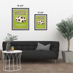 Ezposterprints - Three Balls | Retro Sports Series SOCCER Posters ambiance display photo sample
