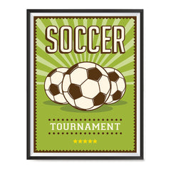 Ezposterprints - Three Balls | Retro Sports Series SOCCER Posters with frame photo sample