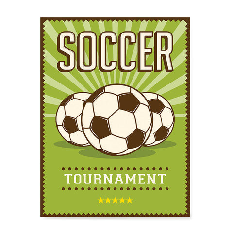 Ezposterprints - Three Balls | Retro Sports Series SOCCER Posters