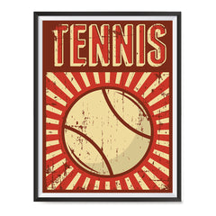 Ezposterprints - Ball Dark Red | Retro Sports Series TENNIS Posters with frame photo sample