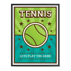 Ezposterprints - Big Ball | Retro Sports Series TENNIS Posters with frame photo sample