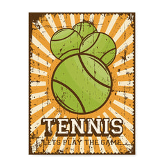 Ezposterprints - Four Balls | Retro Sports Series TENNIS Posters