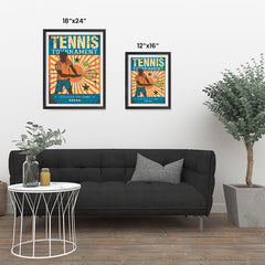 Ezposterprints - Player Blue | Retro Sports Series TENNIS Posters ambiance display photo sample