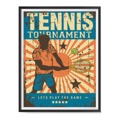Ezposterprints - Player Blue | Retro Sports Series TENNIS Posters with frame photo sample