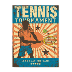 Ezposterprints - Player Blue | Retro Sports Series TENNIS Posters