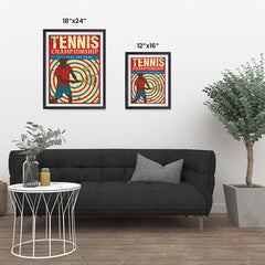 Ezposterprints - Player Blue Red | Retro Sports Series TENNIS Posters ambiance display photo sample