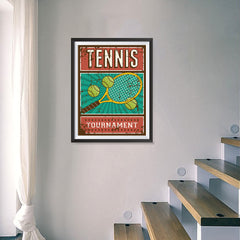 Ezposterprints - Rackets Balls | Retro Sports Series TENNIS Posters - 18x24 ambiance display photo sample