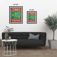 Ezposterprints - Rackets Balls | Retro Sports Series TENNIS Posters ambiance display photo sample