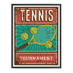Ezposterprints - Rackets Balls | Retro Sports Series TENNIS Posters with frame photo sample