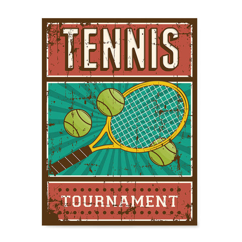 Ezposterprints - Rackets Balls | Retro Sports Series TENNIS Posters