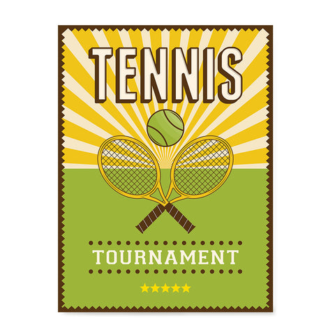 Ezposterprints - Rackets Green | Retro Sports Series TENNIS Posters