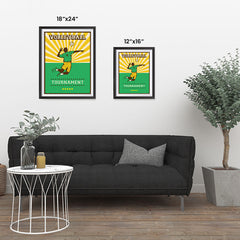 Ezposterprints - Player Green | Retro Sports Series VOLLEYBALL Posters ambiance display photo sample