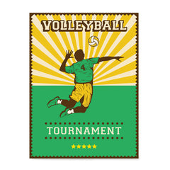 Ezposterprints - Player Green | Retro Sports Series VOLLEYBALL Posters