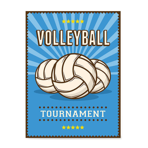 Ezposterprints - Three Balls | Retro Sports Series VOLLEYBALL Posters