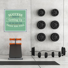 Ezposterprints - Success Consist Of Getting Up Just One More Time Than You Fall - 32x32 ambiance display photo sample