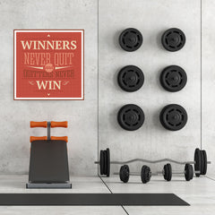 Ezposterprints - Winners Never Quit And Quitters Never Win - 32x32 ambiance display photo sample