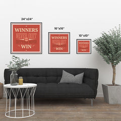 Ezposterprints - Winners Never Quit And Quitters Never Win ambiance display photo sample