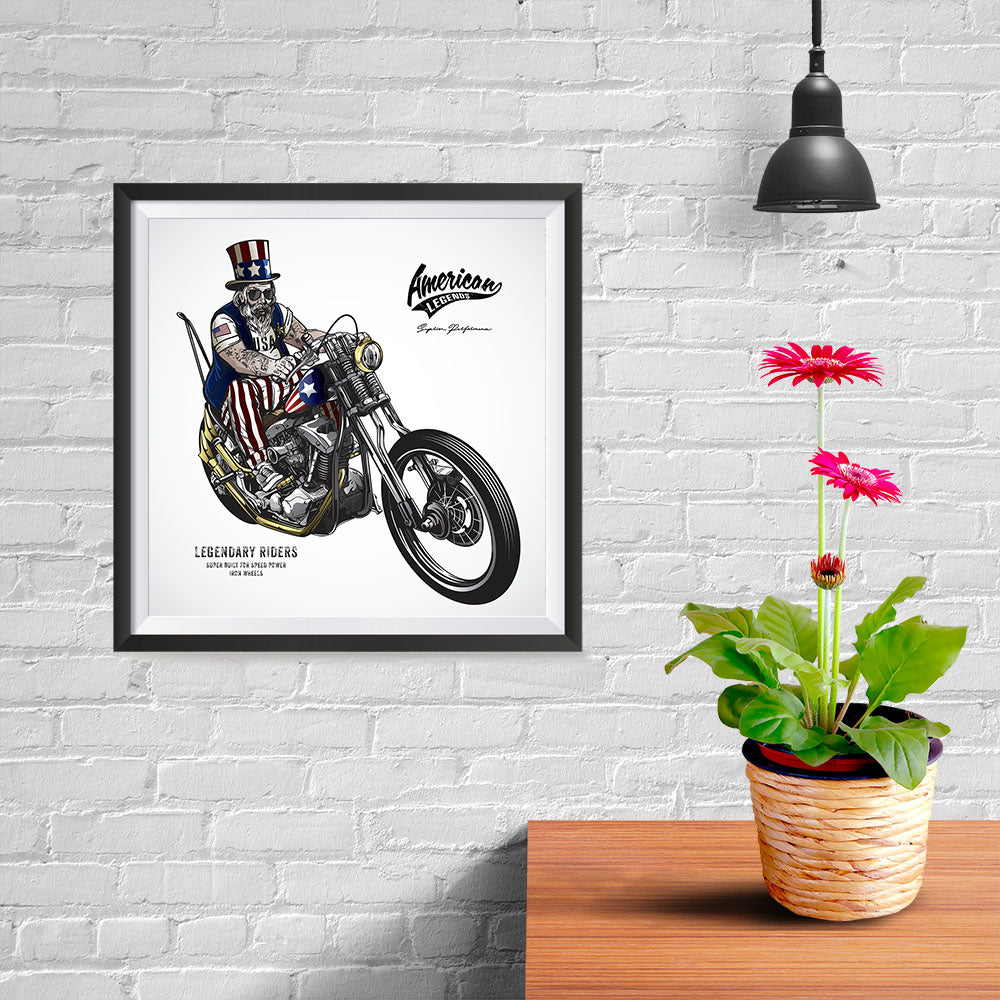 Ezposterprints - American Legends Skull Riders - 10x10 ambiance display photo sample