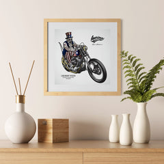Ezposterprints - American Legends Skull Riders - 12x12 ambiance display photo sample