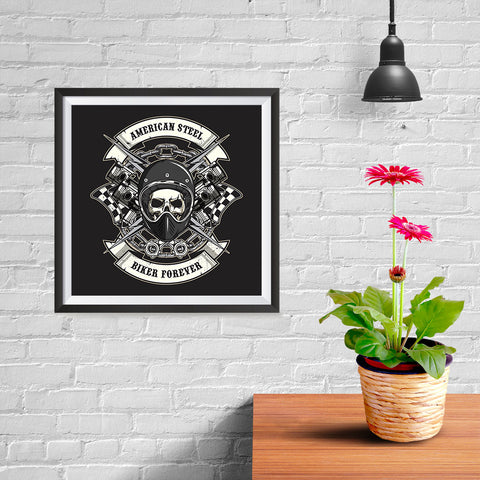 Ezposterprints - Biker Forever Skull Riders - 10x10 ambiance display photo sample
