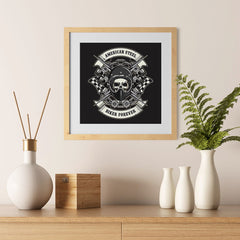 Ezposterprints - Biker Forever Skull Riders - 12x12 ambiance display photo sample