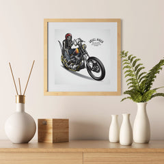 Ezposterprints - Born For The Road Skull Riders - 12x12 ambiance display photo sample