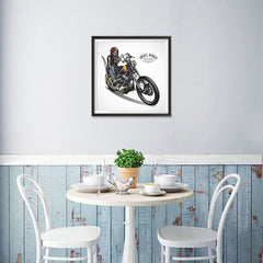 Ezposterprints - Born For The Road Skull Riders - 16x16 ambiance display photo sample