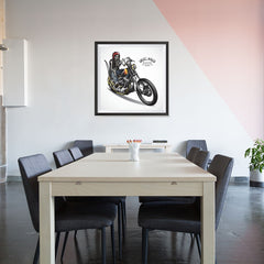 Ezposterprints - Born For The Road Skull Riders - 32x32 ambiance display photo sample