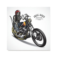 Ezposterprints - Born For The Road Skull Riders
