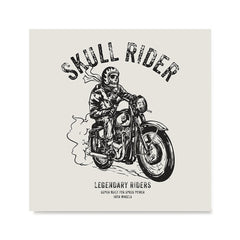 Ezposterprints - Iron Wheels Skull Riders
