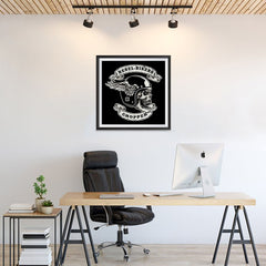 Ezposterprints - Rebel Bikers Skull Riders - 24x24 ambiance display photo sample