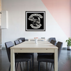 Ezposterprints - Rebel Bikers Skull Riders - 32x32 ambiance display photo sample