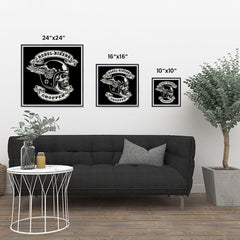Ezposterprints - Rebel Bikers Skull Riders ambiance display photo sample