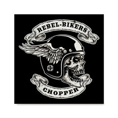 Ezposterprints - Rebel Bikers Skull Riders