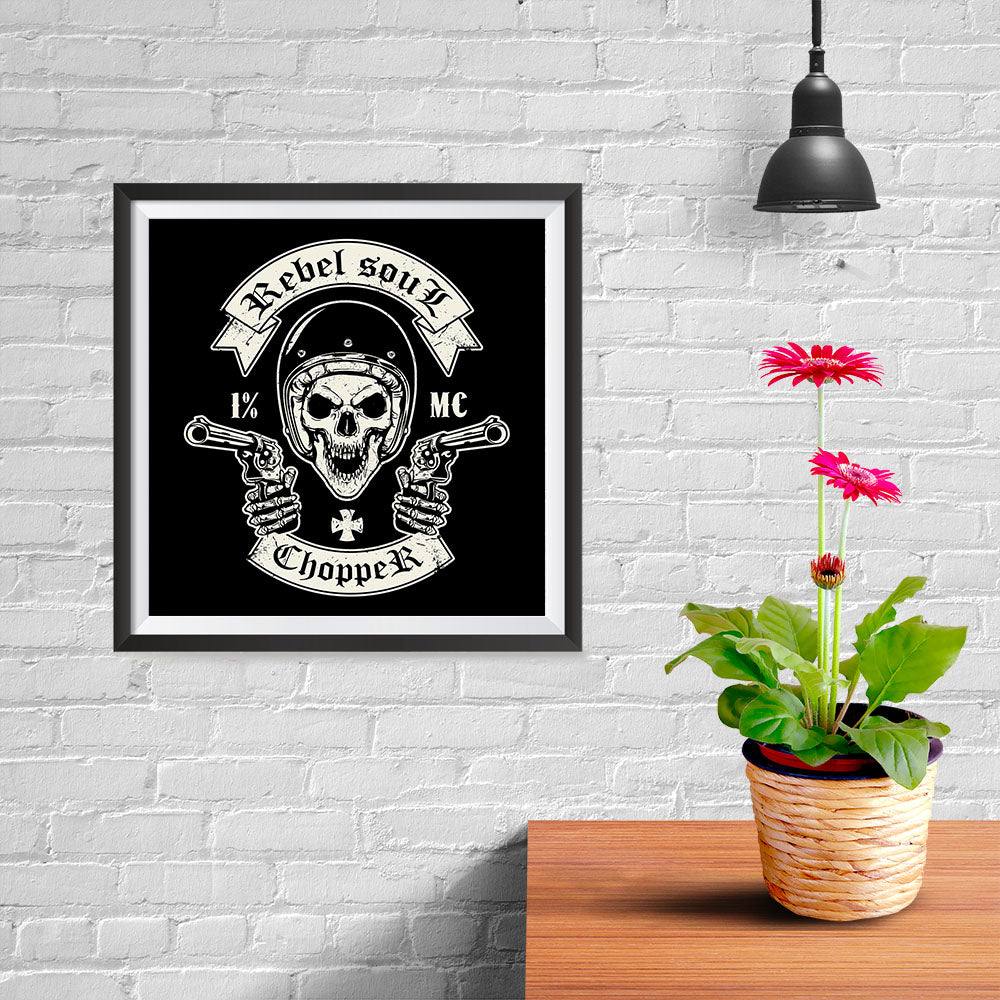 Ezposterprints - Rebel Soul Skull Riders - 10x10 ambiance display photo sample