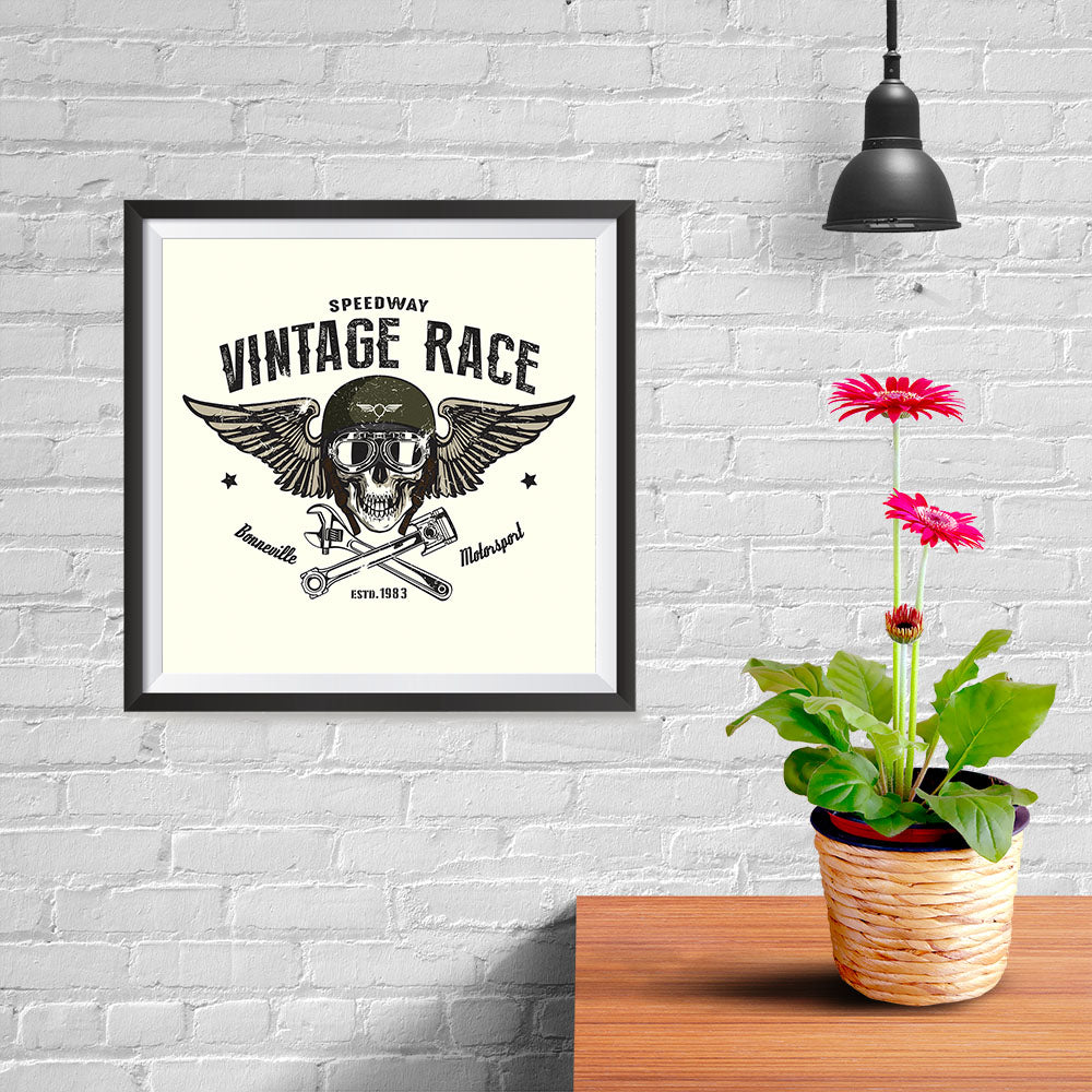Ezposterprints - Vintage Race Skull Riders - 10x10 ambiance display photo sample