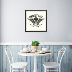 Ezposterprints - Vintage Race Skull Riders - 16x16 ambiance display photo sample