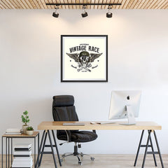 Ezposterprints - Vintage Race Skull Riders - 24x24 ambiance display photo sample