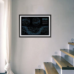 Ezposterprints - Detailed Sky Map Constellations With Star Names Poster - 24x16 ambiance display photo sample