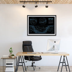 Ezposterprints - Detailed Sky Map Constellations With Star Names Poster - 36x24 ambiance display photo sample