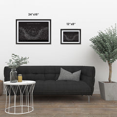 Ezposterprints - Equatorial Star Map - Black Poster ambiance display photo sample